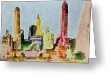 Old Manhattan Greeting Card