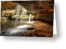 Old Man's Cave Falls Greeting Card
