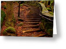 Old Man's Stairs Greeting Card