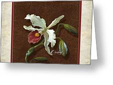 Old Masters Reimagined - Cattleya Orchid Greeting Card