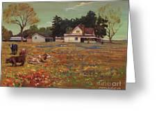 Old Mazoch Farm Greeting Card