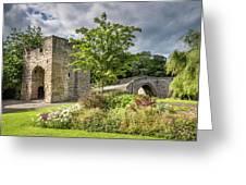 Old Medieval Bridge At Warkworth Greeting Card
