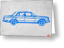 Old Mercedes Benz Greeting Card