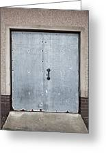 Old Metal Door Greeting Card