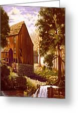 Old Mill At River Bend Greeting Card