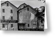 Old Mill Buildings Greeting Card