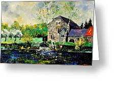 Old Mill In April Greeting Card