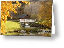 Old Mill In Autumn Greeting Card