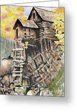 Old Mill In The Rockies Greeting Card