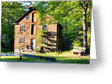 Old Mill In Warm Summer Afternoon Light Greeting Card