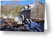 Old Mill On The Tom Tigney River, Nova Scotia Greeting Card