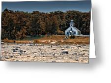 Old Mission Point Light House 01 Greeting Card