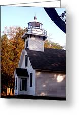 Old Mission Point Light House Greeting Card
