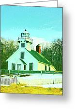 Old Mission Point Lighthouse Greeting Card