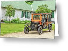 Old Model T Ford In Front Of House Greeting Card