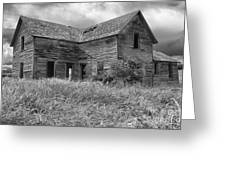 Old Montana Farmhouse Greeting Card