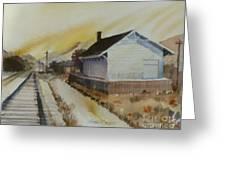 Old Morgan Train Depot Greeting Card