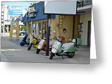 Old Motorcycles Greeting Card