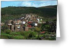 Old Moutain Village In Portugal Greeting Card