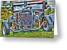 Old Muscle Car Greeting Card