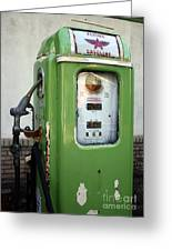 Old National Gas Pump Greeting Card