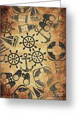 Old Nautical Parchment Greeting Card