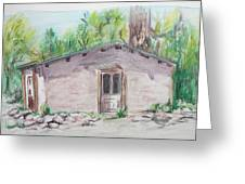 Old New Mexico House Greeting Card
