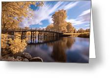 Old North Bridge In Infrared Greeting Card by Brian Hale