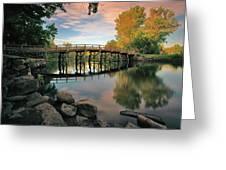 Old North Bridge Greeting Card by Rick Berk
