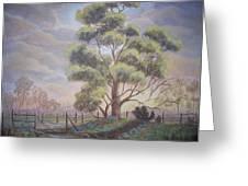 Old Oak Tree Creek Greeting Card