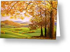 Old Oak Tree On A High Hill II Greeting Card