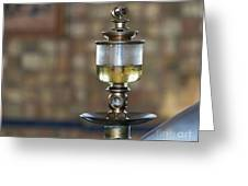 Old Oil Sight Glass In Industry Greeting Card