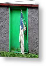 Old Old Glory Greeting Card