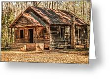 Old One Room School House Greeting Card
