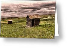 Old Outhouses Greeting Card