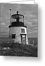 Old Owls Head Lighthouse Greeting Card