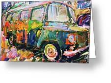 Old Paint Car Greeting Card