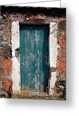 Old Painted Door Greeting Card