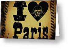Old Paris Greeting Card