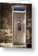 Old Phonebooth Greeting Card by Carlos Caetano