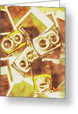 Old Photo Cameras Greeting Card