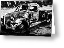 Old Pickup In Winter Greeting Card