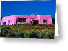 Old Pink Schoolhouse Gallery Tres Piedras Nm Greeting Card by Troy Montemayor