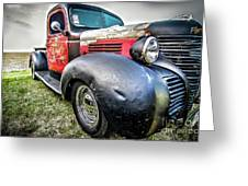 Old Plymouth Truck Greeting Card