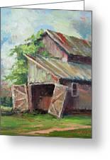 Old Pole Barn Greeting Card