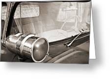 Old Police Car Siren Greeting Card