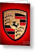 Old Porsche Badge Greeting Card