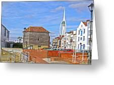 Old Portsmouth Flood Gates Greeting Card