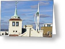 Old Portsmouth's Towers Greeting Card
