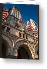 Old Post Office Washington D C Greeting Card